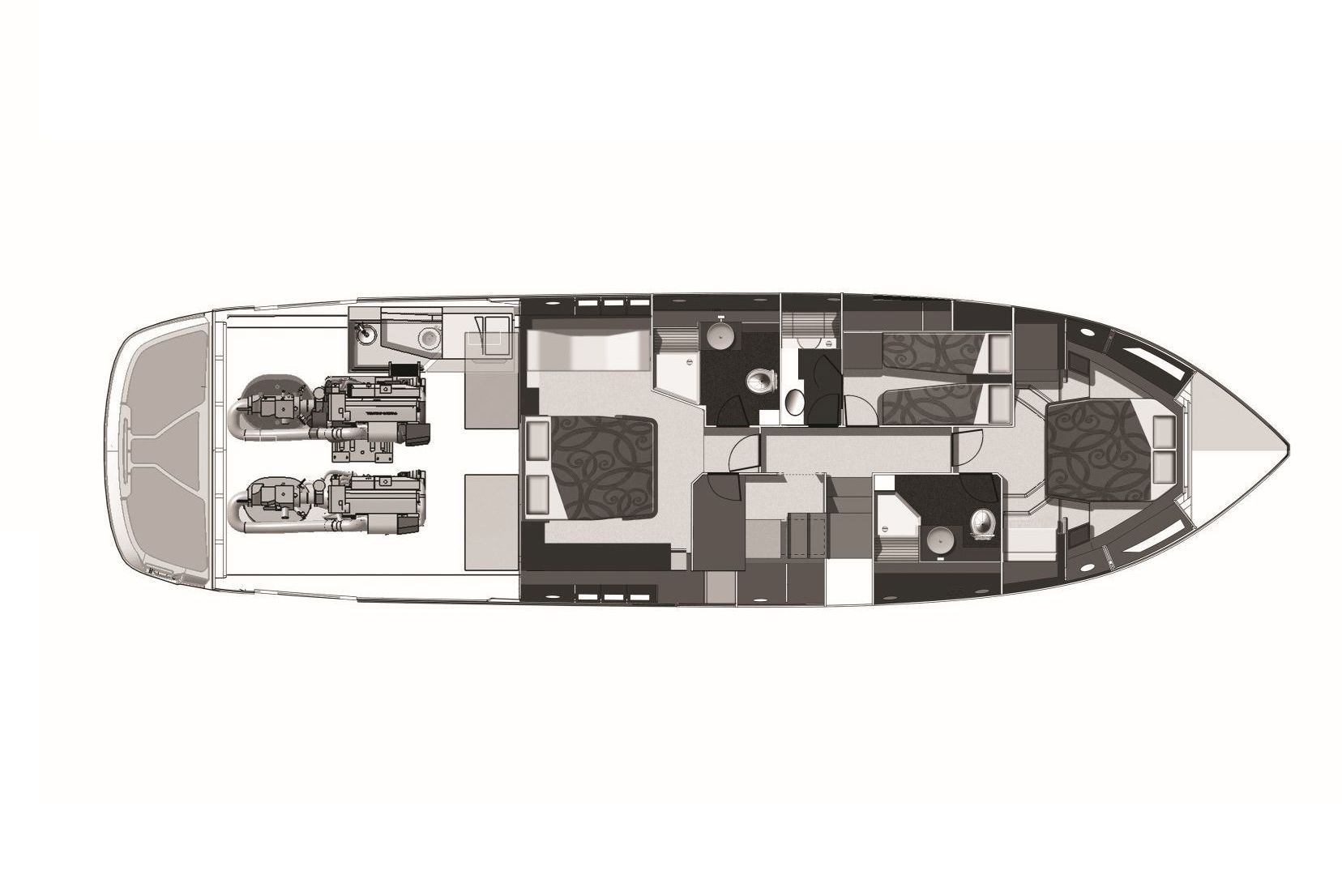 Cranchi 60 FLY LOWER DECK